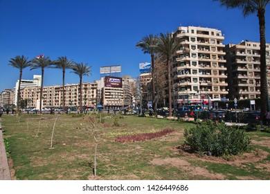 Cairo, Egypt - 05 Mar 2017. Tahrir square in Cairo, Egypt