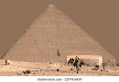 CAIRO EGYPT 11 22 10:  Great Pyramid of Giza also known as the Pyramid of Khufu or the Pyramid of Cheops is the oldest and largest of the three pyramids in the Giza pyramid