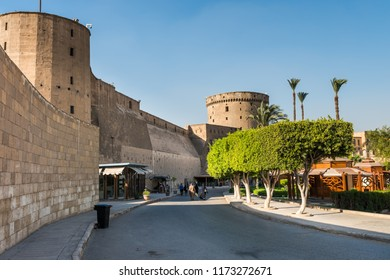 Cairo, Egypt, August 12th, 2018: Saladin Citadel of Cairo and the National Military Museum of Egypt, proclaimed by UNESCO as a part of the World Heritage Site Historic Cairo