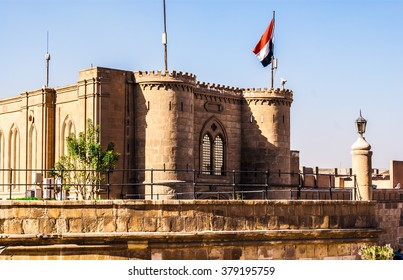CAIRO, EGYPT -  FEBRUARY 19, 2016: The day view on the ramparts of Saladin Citadel, on February 19 in Cairo.