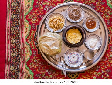 CAIRO, EGYPT - FEBRUARY 5, 2016: Traditional Egyptian food served on plate.