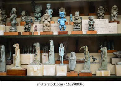 CAIRO, EGYPT - JANUARY 02 2016 : Tutankhamen's artifacts in Egyptian Museum in Cairo.