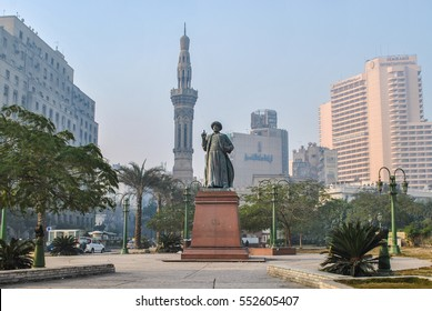Cairo, Egypt - January 15, 2011: Tahrir Square, one of the attractions of downtown Cairo