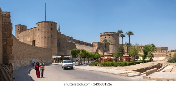 CAIRO, EGYPT - JUNE 9. 2019: The Saladin Citadel of Cairo is a medieval Islamic fortification in Cairo