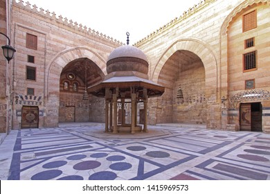 Cairo, Egypt - March 01, 2010: Ablutions Fountain in Courtyard of Sultan Barquq Mosque at Qalawun Complex in Cairo, Egypt.