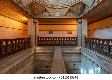 Cairo, Egypt - March 18, 2018: Interior of Nilometer building, an ancient Egyptian water measurement device dates from 715 AD, used to measure the level of river Nile, located in Rhoda Island