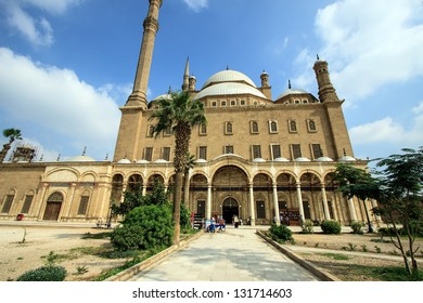 CAIRO, EGYPT - NOVEMBER 07: Muhammad Ali's mosque was built on the highest summit on the site of Saladin Citadel in Cairo and is a major landmark and tourist attraction. November 07, 2012 Cairo, Egypt