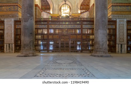 Cairo, Egypt - November 19, 2016: Interior view of the mausoleum of Sultan Qalawun, part of Sultan Qalawun Complex built in 1285 AD, located in Al Moez Street