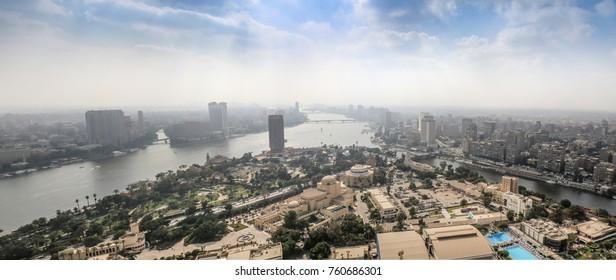 CAIRO, EGYPT - NOVEMBER 19, 2016: Panoramic view on the skyline of Cairo.