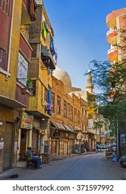 CAIRO, EGYPT - OCTOBER 12, 2014: The large neighborhoods with slums located in the old town, on October 12 in Cairo.