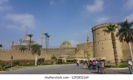 CAIRO, EGYPT - SEPTEMBER 27, 2018: Saladin Citadel of Cairo and the National Military Museum of Egypt, proclaimed by UNESCO as a part of the World Heritage Site Historic Cairo