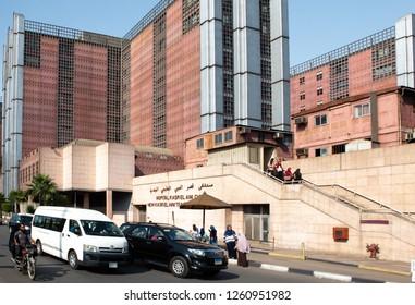 Cairo / Eqypt - 09.13.2018: El-Qasr El-Ainy El Faransawy Cairo University Hospital