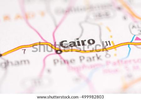 Map Of Cairo Georgia.Cairo Georgia Usa Stock Photo Edit Now 499982803 Shutterstock