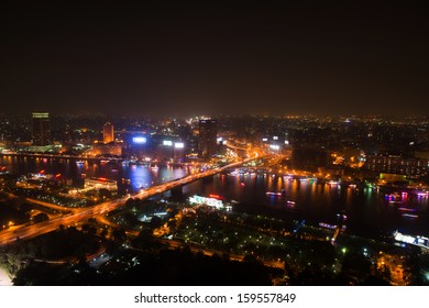 CAIRO - MAY 7: Night view of Cairo from Cairo tower on May 7, 2013, Egypt. Cairo - the capital of Egypt and the largest city in the Arab world and Africa.