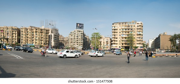 CAIRO - MAY 8: The famous Tahrir square on May 8, 2013 in Cairo, Egypt. Tahrir square - place there thousands of protesters made Egyptians uprising in January 2011.