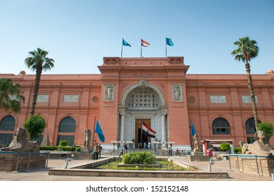 CAIRO - MAY 8: The Museum of Egyptian Antiquities, also known as Egyptian Museum on May 8, 2013 in Cairo, Egypt. Its one of the most known museum in the world.