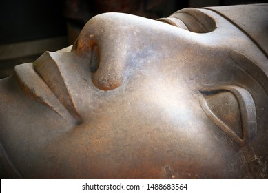 Cairo / Memphis, Egypt - May 7, 2008: Statue of Ramesses II in Memphis, Cairo City, Egypt