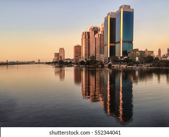 Cairo skyline Egypt, Nile
