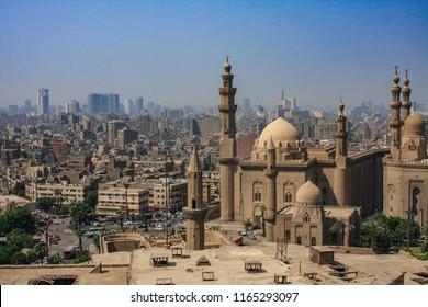 Cairo skyline shot from the Citadel of Saladin, Egypt.
