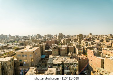 Cairo view from top of the minaret. Cairo has a very interesting building view from up. Mostly dirty and crowded.