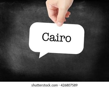 Cairo written on a speechbubble