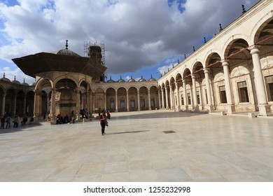 Cairo,Egypt- November 30,2018 :Muhammad Ali Mosque is a mosque situated in the Citadel of Cairo in Egypt and commissioned by Muhammad Ali Pasha between 1830 and 1848.