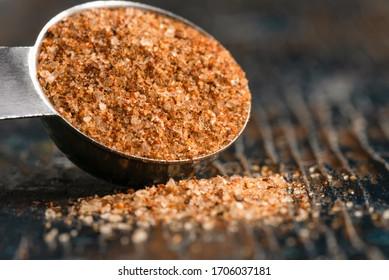 Cajun Seasoning Spilled from a Teaspoon