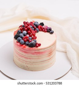 Cake with berries. Cake homemade bakery.