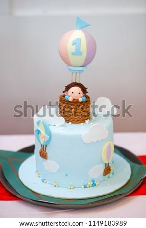 Cake Birthday Boy Figure 1 Figure Stock Photo Edit Now 1149183989