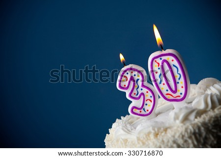 Cake Birthday With Candles For 30th
