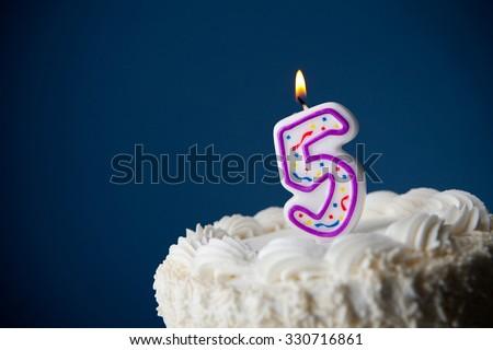 Cake Birthday Cake Candles 5th Birthday Stock Photo Edit Now