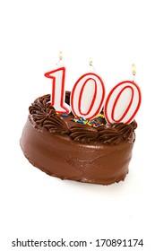 Cake: Birthday Cake Celebrating 100th Birthday