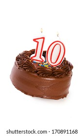 Cake: Birthday Cake Celebrating 10th Birthday
