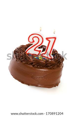 Cake Birthday Celebrating 21st