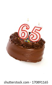 Cake: Birthday Cake Celebrating 65th Birthday