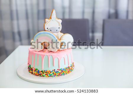Cake Birthday Girl Figure 2 Figure Stock Photo Edit Now 524133883