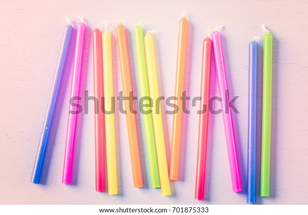 Cake Candles Kids Birthday Party Primary Stock Photo Edit Now 701875333