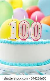 Cake Celebrating 100th Birthday