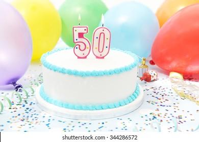 Cake Celebrating 50th Birthday