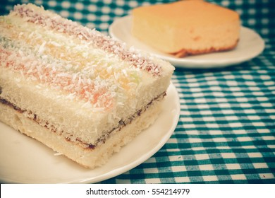 cake with coconut on deck