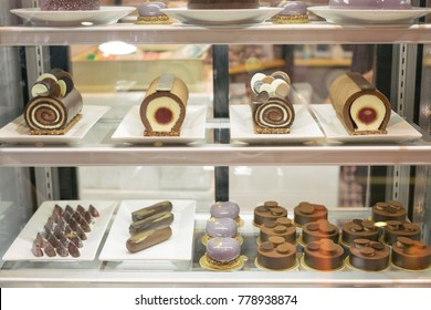 Cake Displayed in Bakery Store