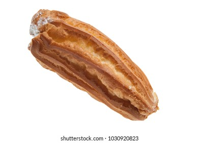 cake eclair without chocolate and filled with cream