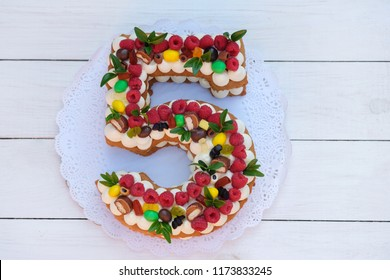Incredible 5Th Birthday Cake Images Stock Photos Vectors Shutterstock Funny Birthday Cards Online Bapapcheapnameinfo