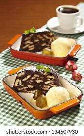 cake and ice cream