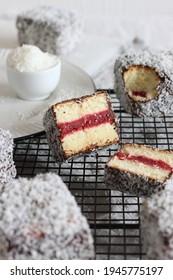 cake, lamington, food, foodphotography, sweet
