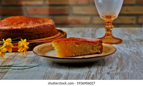 cake made with Grandma's traditional recipe, healthy Mediterranean diet cooking
