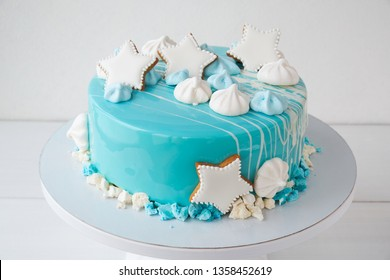 Prime Cake By The Ocean Images Stock Photos Vectors Shutterstock Birthday Cards Printable Trancafe Filternl