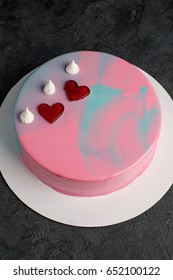 Cake mousse with mirror glaze