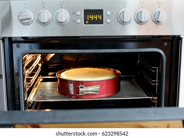 Cake in the oven, baking pie