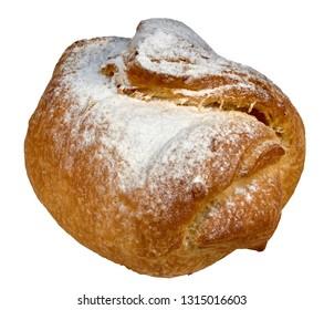 Cake in powdered sugar